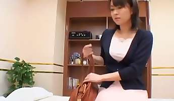 Tender Jap broad nailed well in spy cam erotic rubdown clip