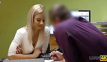 LOAN4K Seductive female can close debts only if she smashes loan agent