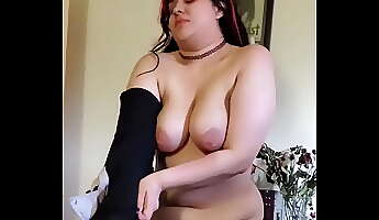 Punk girl undresses doesn039t know I039m recording